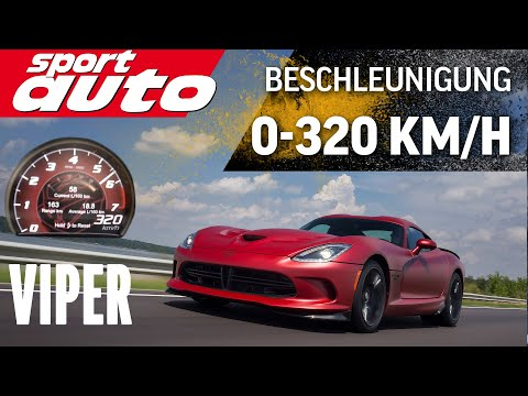 SRT Viper 320 km/h Acceleration Test sport auto