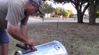 getlinkyoutube.com-Making a Home Made Deer or Pig Feeder Out Of A Trash Can
