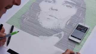 getlinkyoutube.com-Ian Brown (speed-drawing, linear portrait) - Lex Wilson
