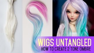 getlinkyoutube.com-Wig Making for Dolls - How To Do 2 Tone Ombre Effect