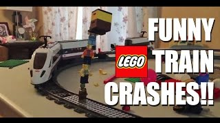 getlinkyoutube.com-Funny LEGO Train Crashes with Sound Effects!!