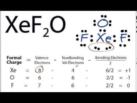 XeF2O Lewis Structure - How to Draw the Lewis Structure for XeF2O