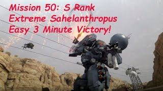 Metal Gear Solid 5 Phantom Pain - Extreme Sahelanthropus 3 Minutes Win!