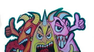 getlinkyoutube.com-WiZARDS new Graffiti Stickers BLACKBOOK