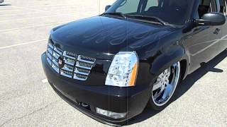 getlinkyoutube.com-Bagged Chevy Truck with Cadillac Escalade Front Cap #WhipPaparazzi