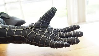 getlinkyoutube.com-Making the Spider-Man Black Suit Glove - How to Glue the Webs