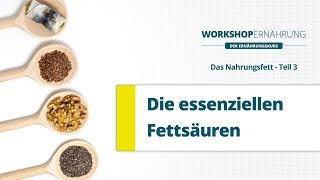 getlinkyoutube.com-FETT (3/6): Essenzielle Fettsäuren - Omega-3 und Omega-6   Workshop Ernährung