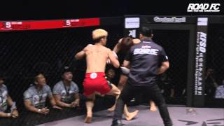 ROAD FC YoungGuns 22] Jang Dea-Young defeats Jung Suk-Chan by TKO