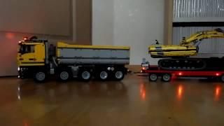 getlinkyoutube.com-Lego Technic Truck 10x4 Full Radio Control