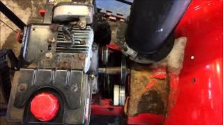 getlinkyoutube.com-Snow Blower Auger Belt Replacement - Troy Built, MTD, Yard Machine