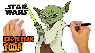 getlinkyoutube.com-How to Draw Yoda (Star Wars)- Kids Art Lesson