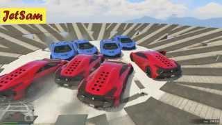 getlinkyoutube.com-GTA 5 Смешные моменты #85 - Ветряки на мосту и Автомобильное сумо (PC ULTRA)