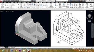 getlinkyoutube.com-AUTOCAD  MECHANICAL MODELING PART1 - MAKING A  3D MODEL