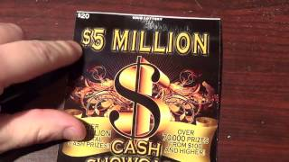 getlinkyoutube.com-This is a WEIRD one! $20 5 MILLION CASH showcase! Ohio Lotto Scratch off