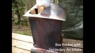 Rocket Stove Ideas 32 - Box Rocket with Secondary Air Intake