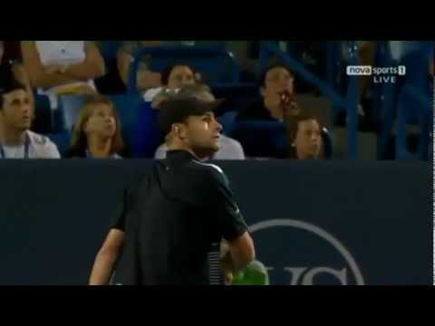 Funny Tennis - Andy Roddick arguing with the umpire over a penalty point