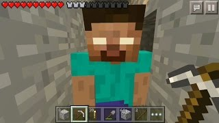 getlinkyoutube.com-I FOUND HEROBRINE! HEROBRINE KILLED ME! Minecraft PE Herobrine Sighting! Mcpe Herobrine Proof 0.16.0