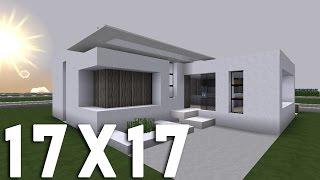 Minecraft - Tuto construction maison moderne en 17x17