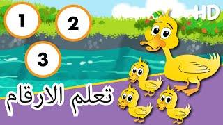 Learn The Numbers In Arabic تعلم الارقام بالعربية - كارتون للاطفال