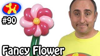 getlinkyoutube.com-Fancy Flower - Balloon Animal Lessons #90