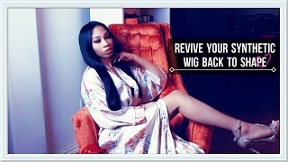 getlinkyoutube.com-HOW TO REVIVE SYNTHETIC HAIR! ( STRAIGHT WIG!)