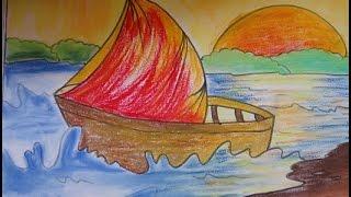 getlinkyoutube.com-easy drawing for kids,beautiful scenery drawing