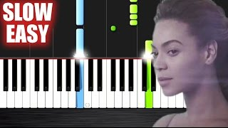 getlinkyoutube.com-Beyoncé - Halo - SLOW EASY Piano Tutorial by PlutaX