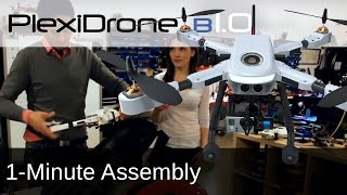 getlinkyoutube.com-PlexiDrone B1.0 | How to Assemble Plexi Drone in 1-minute Ready to Fly