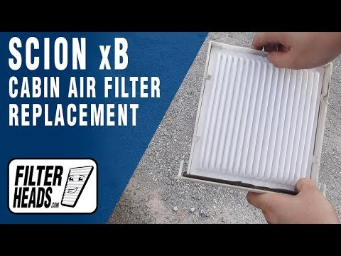 How to Replace Cabin Air Filter 2005 Scion xB