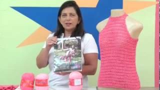 getlinkyoutube.com-Regata em crochê co Camila fashion com Cristina Amaduro