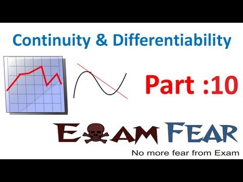 Maths Continuity & Differentiability part 10 (Example Continuous function ) CBSE Mathematics XII 12