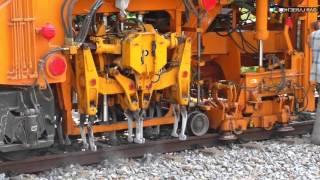 Indian Railways Plasser Tamper and Stabiliser Machines at Work