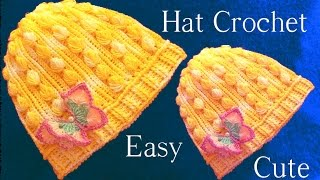 getlinkyoutube.com-Aprende como tejer a Crochet gorro con hojas miniaturas en alto relieve - How to Crochet