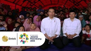 Sambutan Presiden Jokowi Saat Nobar Closing Asian Games 2018 dari Tenda Pengungsi Lombok