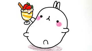 getlinkyoutube.com-How to draw Bunny Molang (3X) #044  몰랑 몰랑이 빨리(3X)그리기 cute kawaii かわいい 可愛 손그림