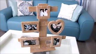 getlinkyoutube.com-How To Make a Cardboard Photo Frame - Home DIY