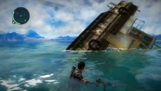 getlinkyoutube.com-Just Cause 2 car+boat=ultimate boat glitch