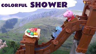 getlinkyoutube.com-Play Doh Peppa Pig Disney Cars Despicable Me Thomas The Train Hello Kitty Kids Toy