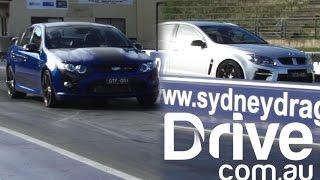 getlinkyoutube.com-Drag race: FPV GT F v HSV GTS | Drive.com.au