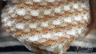 getlinkyoutube.com-Tutorial Cuello o Bufanda Crochet o Ganchillo Circle Scarf