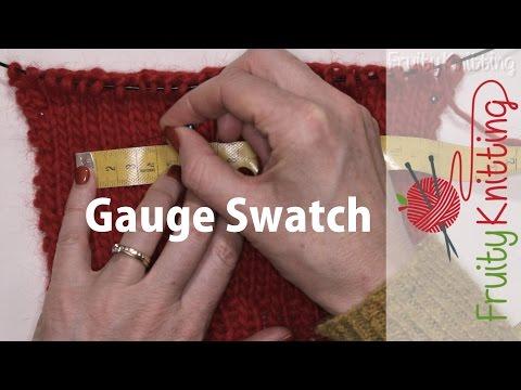 Knitting Gauge Swatch