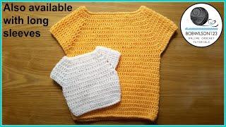 getlinkyoutube.com-Child Sweater Crochet Tutorial
