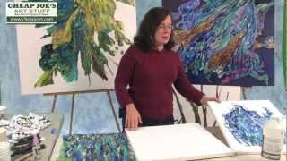 getlinkyoutube.com-Debbie Arnold- Collaging with Poured Acrylic Skins