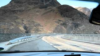 Drive through Rannoch Moor to Glencoe on the A82