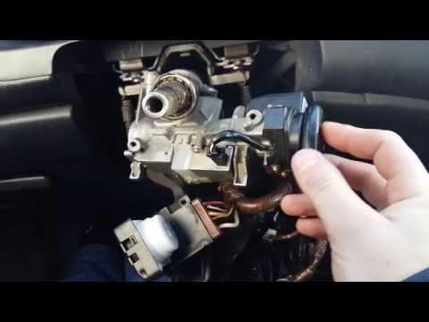 Как снять замок зажигания Honda Accord 7. Как завести без ключа.