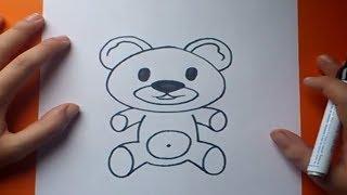 getlinkyoutube.com-Como dibujar un oso de peluche paso a paso 7 | How to draw a teddy bear 7