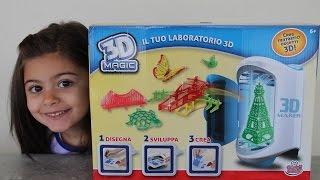 getlinkyoutube.com-Il laboratorio 3d magic, apertura prova del gioco con realizzazione oggetti