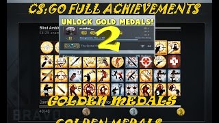 getlinkyoutube.com-CSGO Map Achievements 2 Global Expertise Medal 2 #  Golden Medal 2