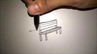 "getlinkyoutube.com-CARA MENGGAMBAR KURSI TAMAN DARI HURUF ""L"" 