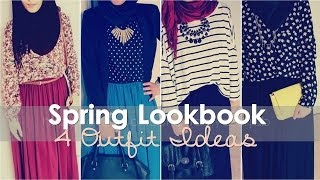 getlinkyoutube.com-LOOKBOOK | 4 Spring Outfit Ideas